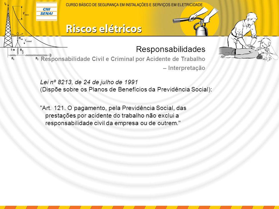 Responsabilidades Decreto nº 3.048, de 6 de maio de 1999 Aprova o Regulamento da Previdência Social Art.
