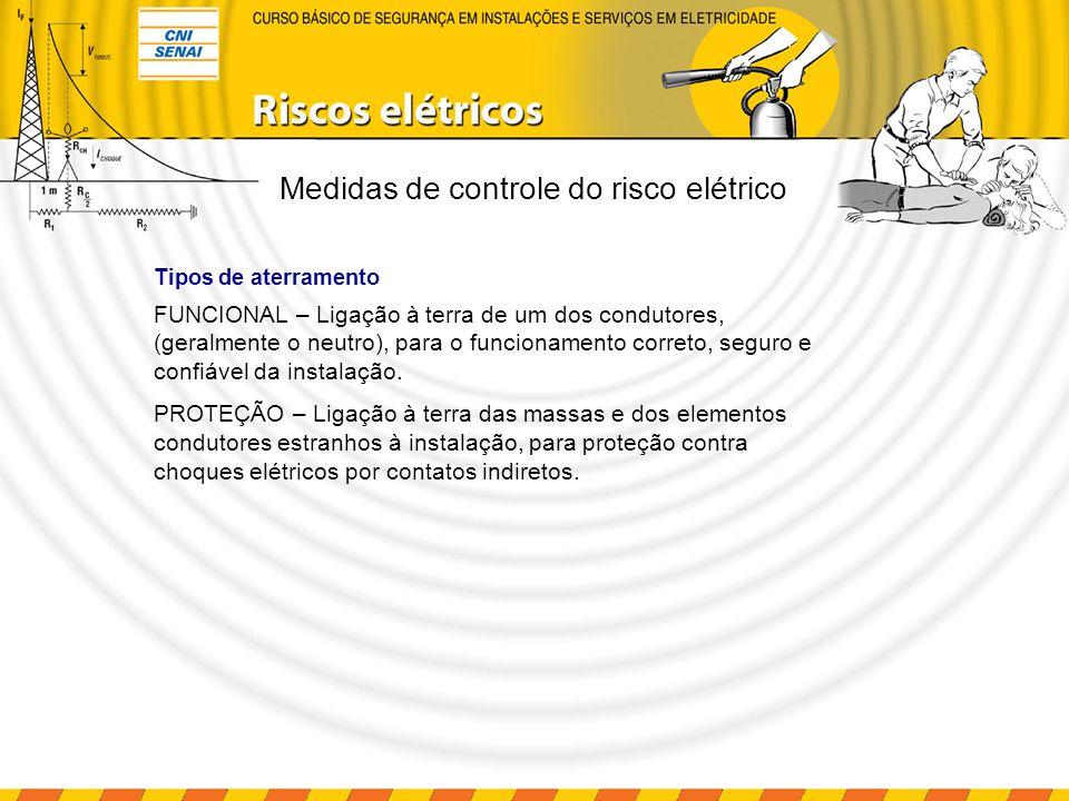 ATERRAMENTO TEMPORÁRIO OU DE TRABALHO – É utilizado em caráter provisório para proteger os trabalhadores em atividades de manutenção contra reenergização de partes da instalação, normalmente sob tensão.