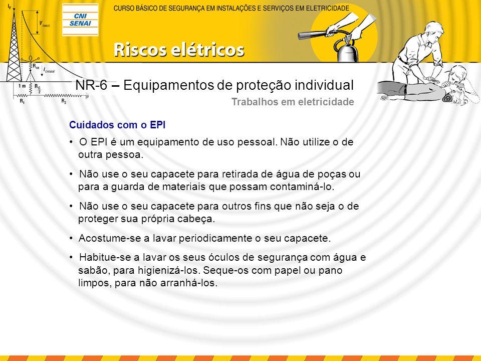 Riscos adicionais Trabalhos em altura A norma aplicada quando se trata de trabalhos em altura é a NR-18, que especifica no item 18.23.2 a utilização do cinto de segurança tipo abdominal apenas por eletricistas, ou em situações que exijam limitação de movimentos.