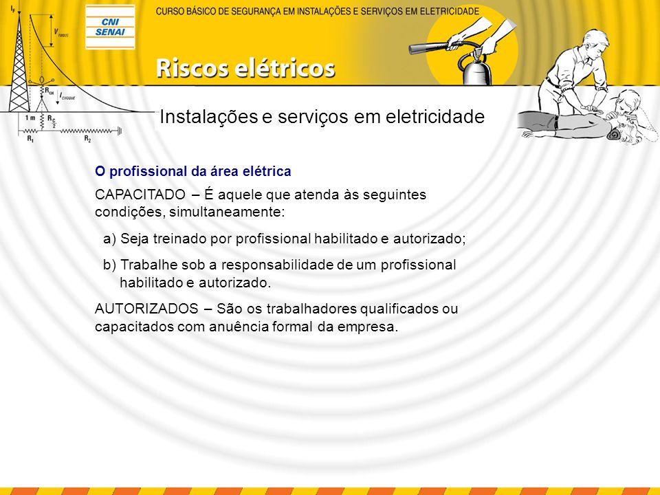 Rotinas e procedimentos de trabalho As instalações elétricas só serão consideradas desenergizadas e liberadas para trabalhos depois dos procedimentos apropriados, descritos na NR-10.