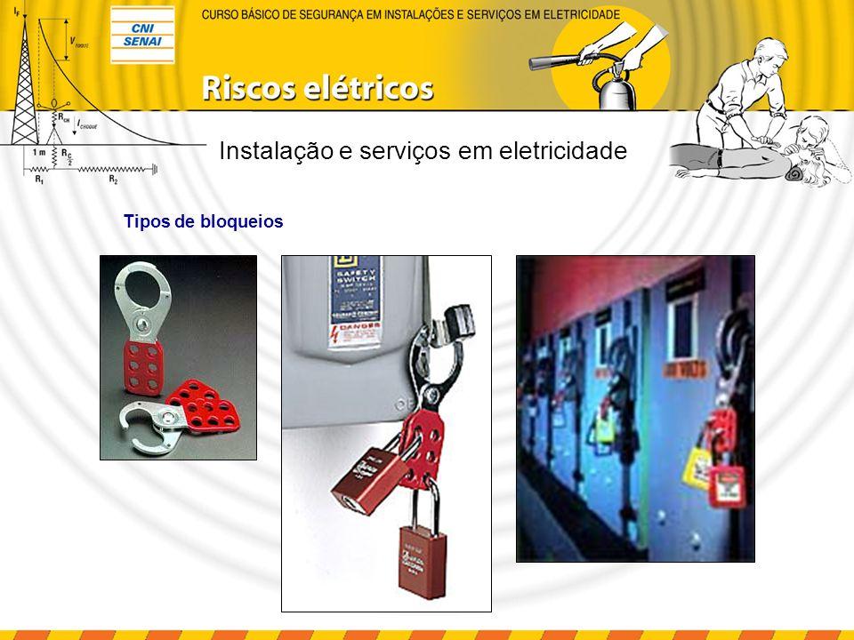 Instalação e serviços em eletricidade Outros tipos de bloqueios Bloqueio do disjuntor lock out & tag out Bloqueio do plugue