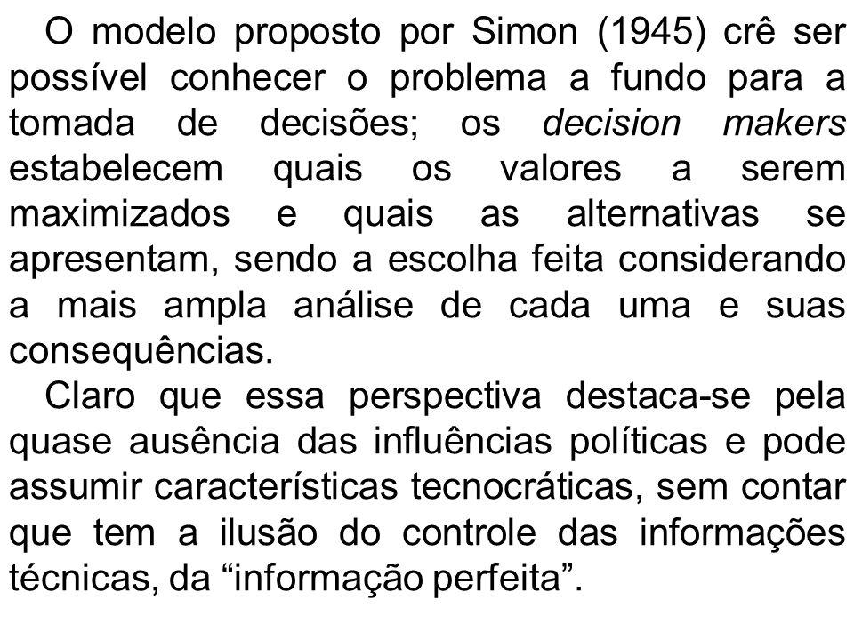 Lindblom (1959) propôs um método confuso, segundo suas próprias palavras.