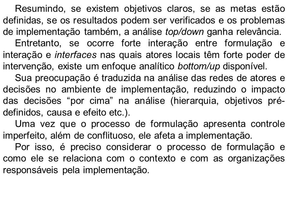 A lógica analítica bototm/up é formulada a partir das restrições oriundas da perspectiva oposta.