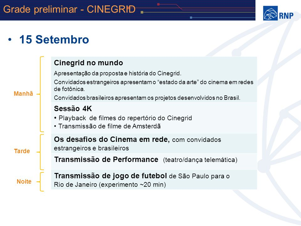 Michael Stanton [michael@rnp.br] Leandro Ciuffo [leandro.ciuffo@rnp.br] Tiago Salmito [tiago.salmito@rnp.br] Jane de Almeida [janedealmeida@gmail.com]