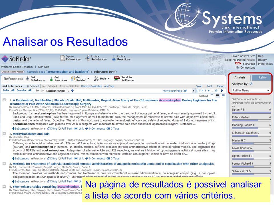 Analisar por nome de autor, CAS RN, nome de instituição, tipo de documento, periódico, idioma, ano de publicação, etc.