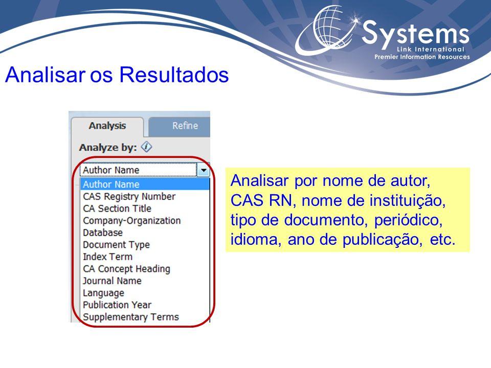 Na página de resultados é possível refinar a lista de acordo com vários parâmetros.