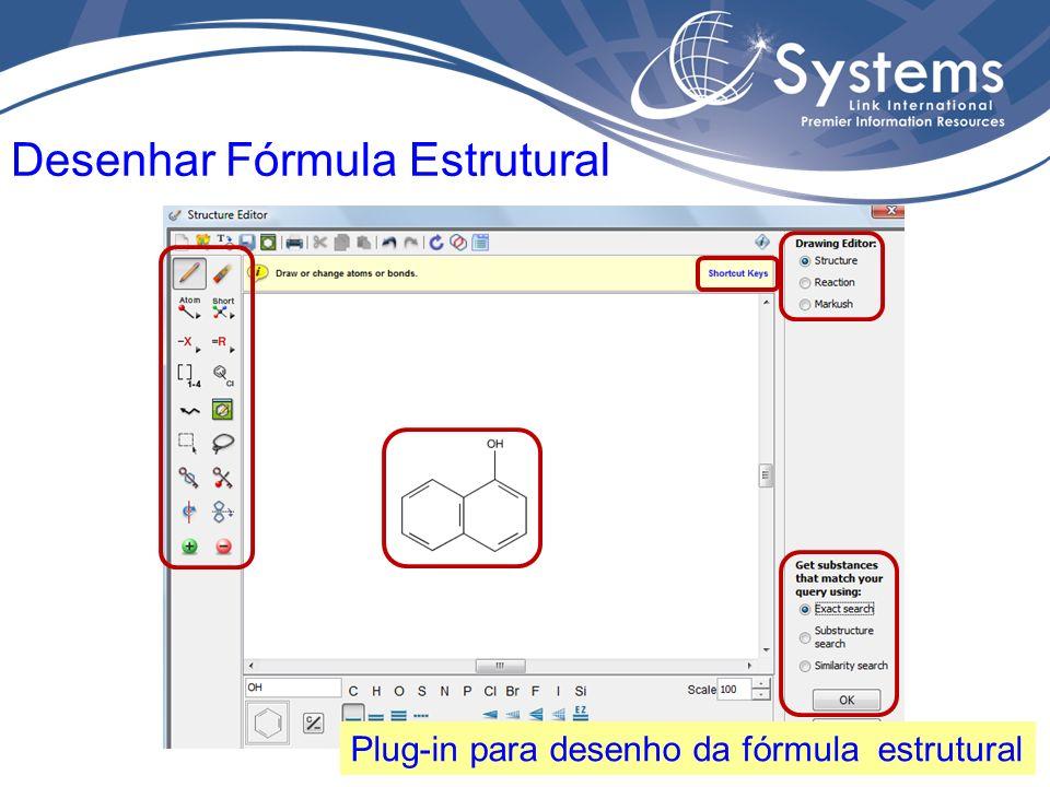 A fórmula estrutural é o seu termo de busca.Abaixo, algumas ferramentas de refino da busca.