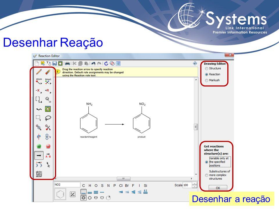 Termo de busca – reação, e possibilidade de usar filtros Explore Reactions
