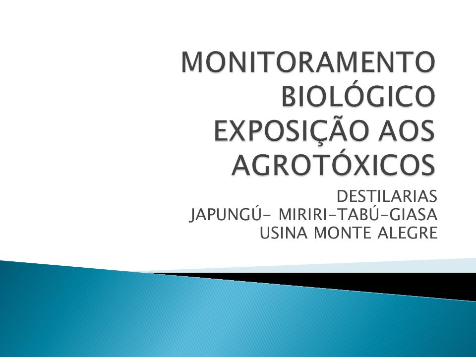 Padronizar as condutas médicas ocupacionais preventivas aos trabalhadores rurais expostos aos agrotóxicos: HERBICIDAS INSETICIDAS - CARBAMATO - FURADAN (Nematicida) INSETICIDA - REGENTE (PIRAZOL) Cupinicída Obs.
