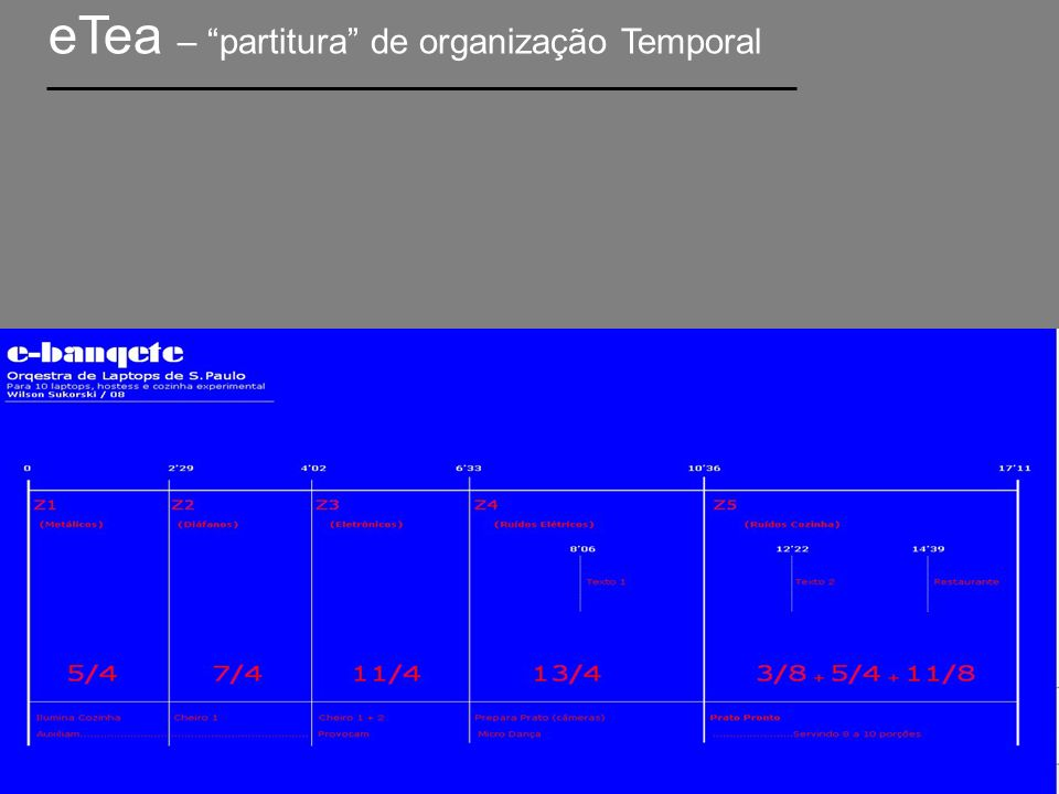 07 Música de Amor Para celular, narradora/atriz, receptor e 7 laptops.