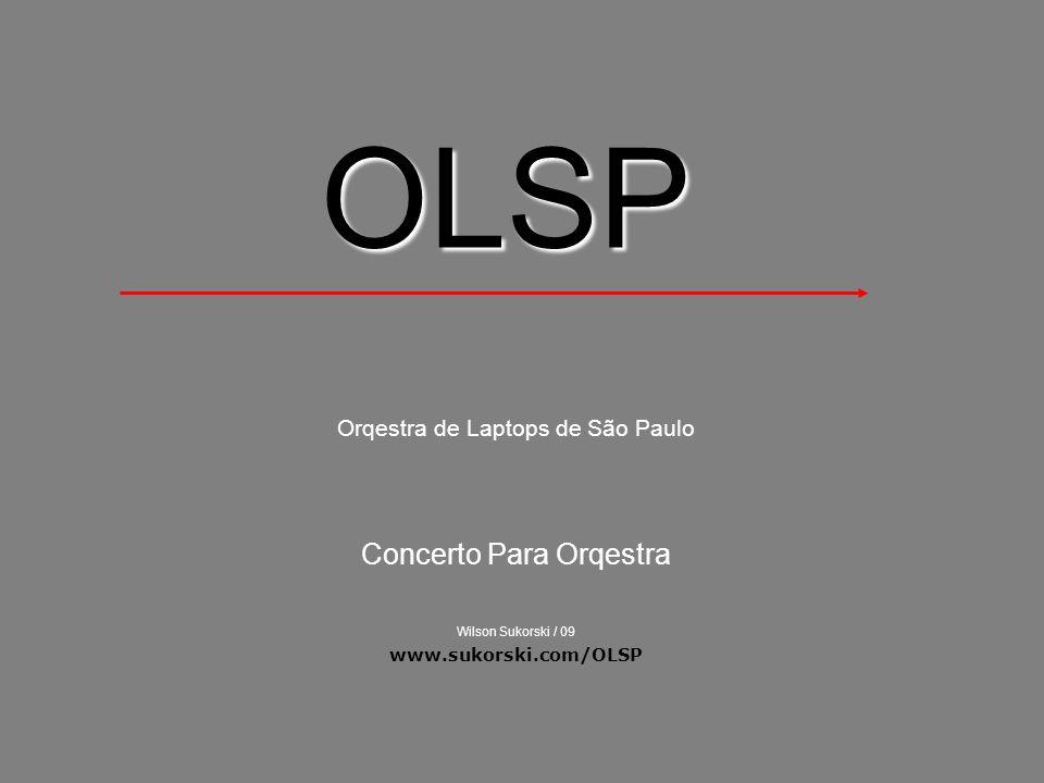 A Orqestra A orqestra (sem u) de Laptops foi formada por Wilson Sukorki durante o ano de 2008 com o objetivo específico de realização de experimentos no campo da música digital, através de improvisações musicais comandadas por partituras gráficas de diversas naturezas além de outras estratégias póeticas de discurso temporal.