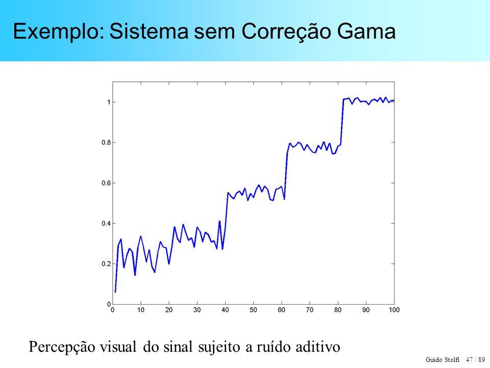 Guido Stolfi 48 / 89 Exemplo: Sistema com Correção Gama Escala uniforme de intensidades aparentes (Lightness)