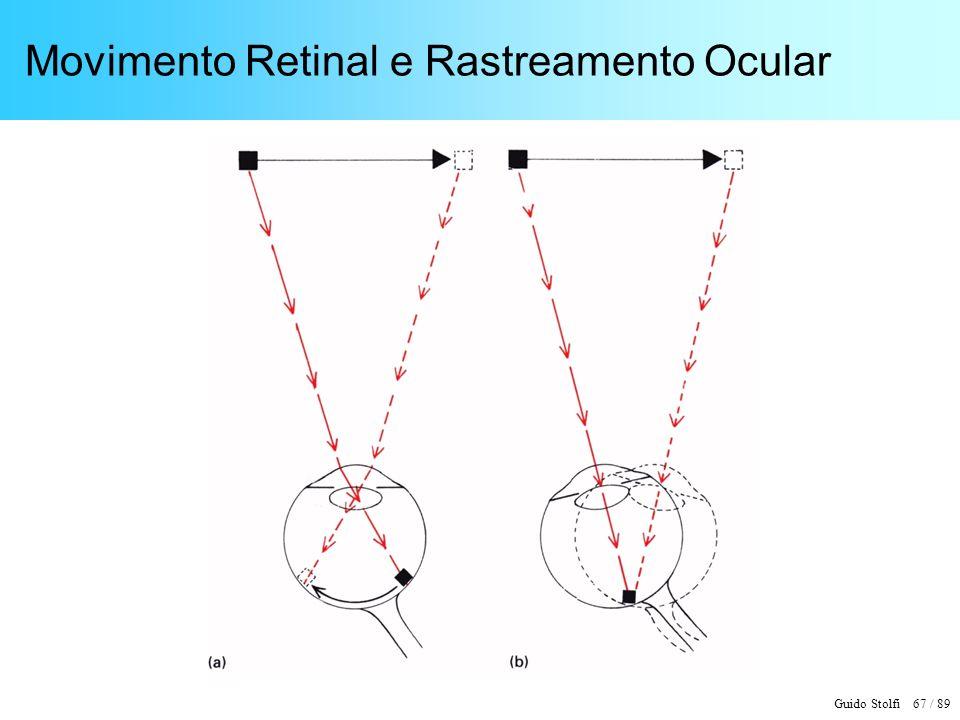 Guido Stolfi 68 / 89 Mecanismos de Compensação do Movimento Ocular - + - + Comando motor Comando motor SensoresInformação compensada Movimento ocular Informação bruta