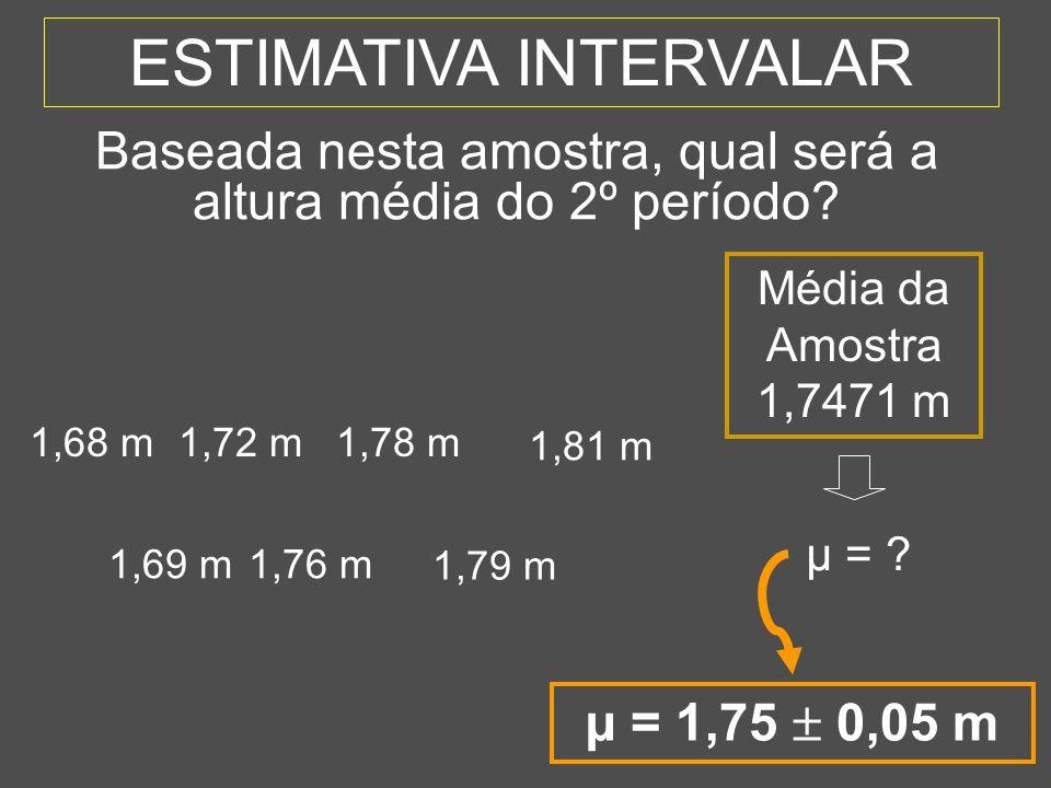 9 SUMÁRIO 1 - Estimativas 2 - Intervalo de Confiança Teórico (Situação teórica - conhecido) 3 - Intervalo de Confiança Prático (Situação real - desconhecido) 4 - Cálculo do Tamanho da Amostra 5 - Uso do Computador