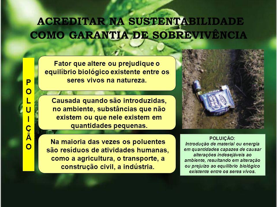 ÁGUA AUMENTO DO CONSUMO POLUIÇÃO POLUIÇÃO DAS ÁGUAS CONSUMO DIÁRIO DE ÁGUA POR PESSOA (países desenvolvidos) 150 LITROS: 20% - descargas vasos sanitários 40% - chuveiros/banheiras 22% - lavagem de roupas e louças 18% - preparo de alimentos, beber, regar plantas e outros usos.