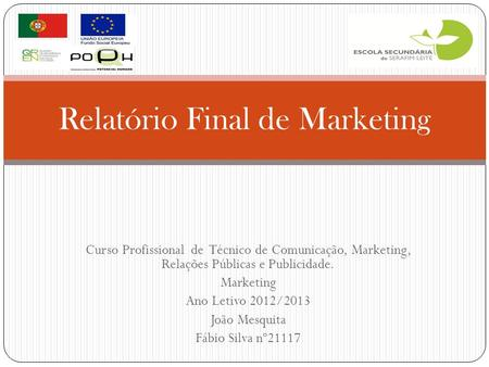 Relatório Final de Marketing