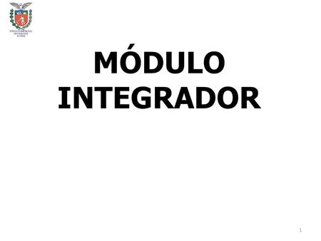 MÓDULO INTEGRADOR.
