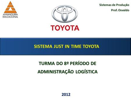 SISTEMA JUST IN TIME TOYOTA