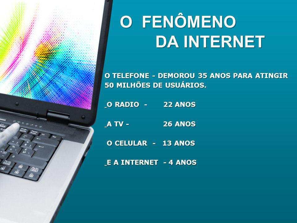 *A internet é o mais poderoso veículo de comunicação do mundo.