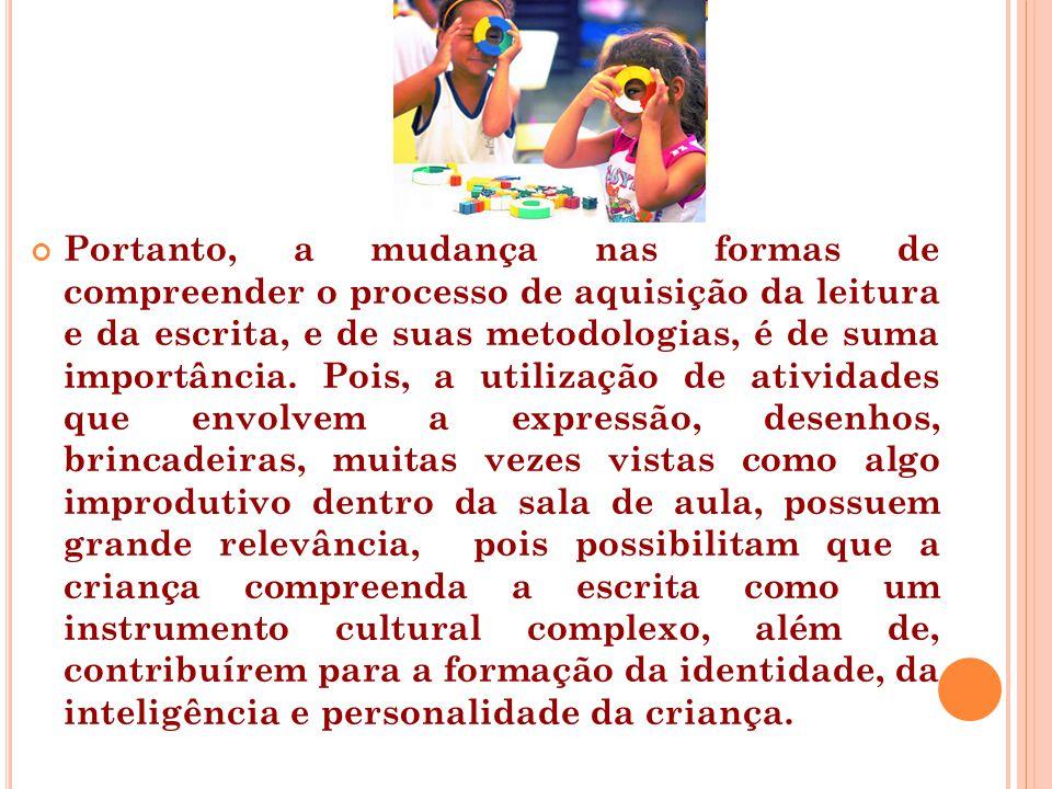 Algumas referências FARIA, A.L.G., MELLO, S.A.O Mundo da Escrita na Pequena Infância.
