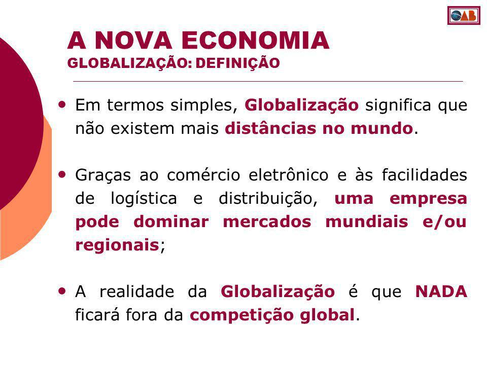 Os custos com logística tem sido decrescentes na última década, As empresas internacionais integram seletivamente sua produção pelos continentes, As empresas aproveitam economias de aglomeração combinadas com o uso dos fatores produtivos locais.