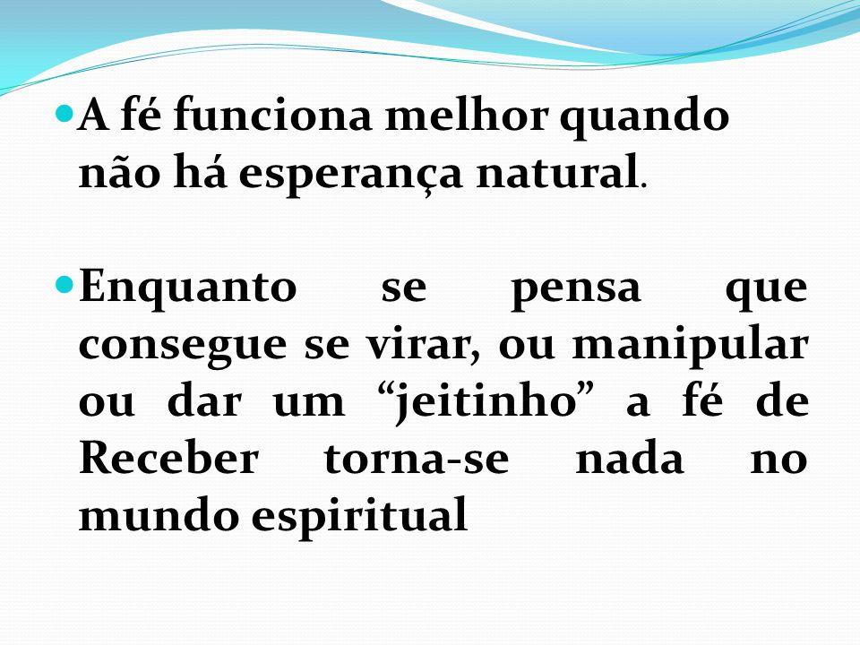 Enquanto se confia na própria capacidade ou conhecimento para conseguir os resultados, não haverá respostas no mundo espiritual.