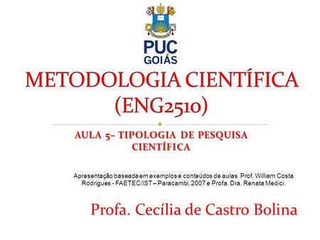 METODOLOGIA CIENTÍFICA (ENG2510)