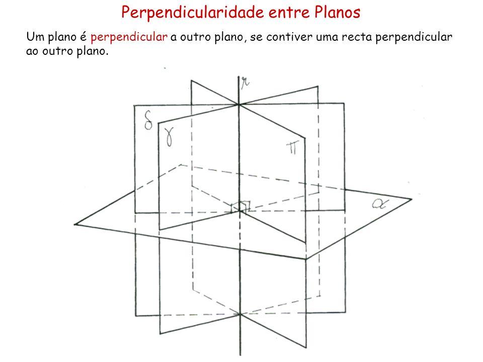 Planos Perpendiculares - Geral Pretendem-se os traços de um plano δ, perpendicular ao plano α e passando pelo ponto P.