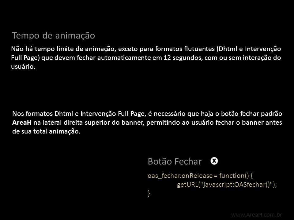 Formatos Padrão www.AreaH.com.br