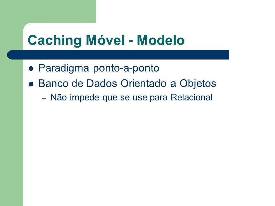 Caching Móvel - Modelo Cache Table – É um mini banco de dados que pode ser manipulado pelo servidor.