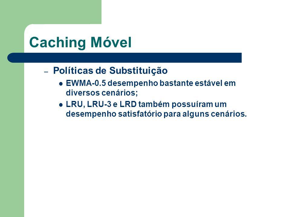 Conclusões Proposto um mecanismo para prover desempenho Caching baseado em paginas não é adequado Foi proposto um caching baseado em atributos, objetos ou híbrido.