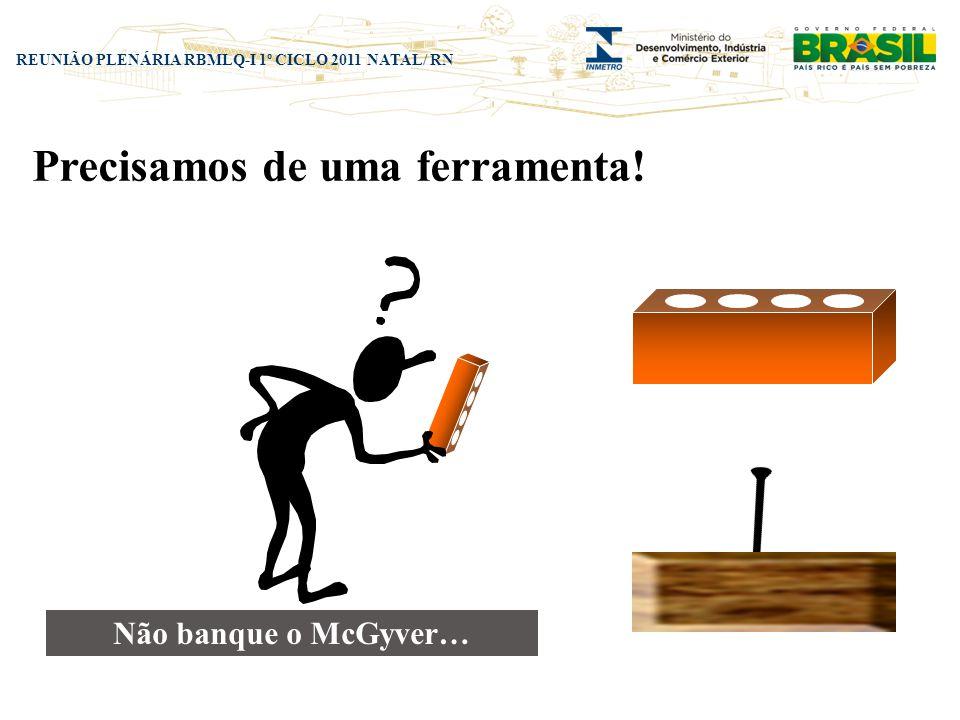 REUNIÃO PLENÁRIA RBMLQ-I 1º CICLO 2011 NATAL/ RN Precisamos da ferramenta correta!