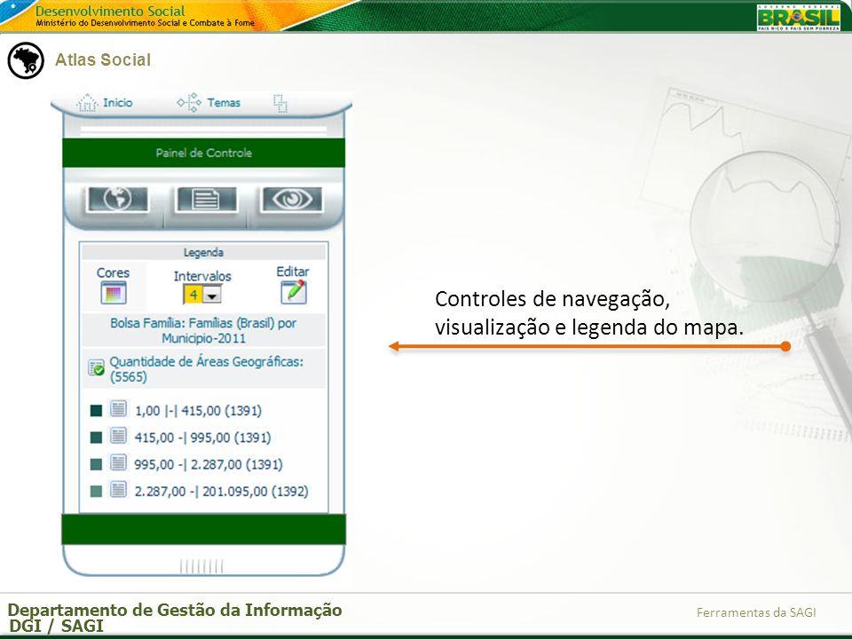 Departamento de Gestão da Informação DGI / SAGI Ferramentas da SAGI Atlas Social