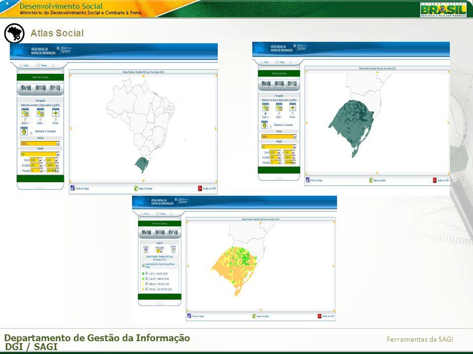 Departamento de Gestão da Informação DGI / SAGI Ferramentas da SAGI 1.4 RI – Relatório de Informações Sociais