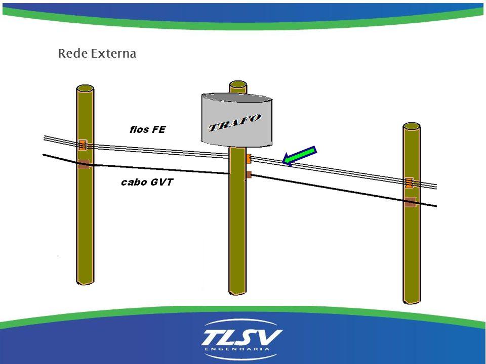 Não deverão ser utilizados suportes de meio de vão, somente em casos extremos e com a devida autorização da GVT.