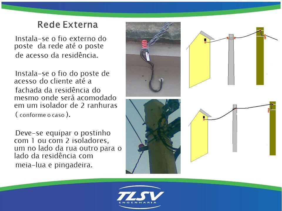 Acesso telefônico no postalete: Coloca-se PTR ( BLE-2) e isolador novo e troca-se o fio da tubulação por fio FE até o primeiro ponto dentro da residência do assinante.