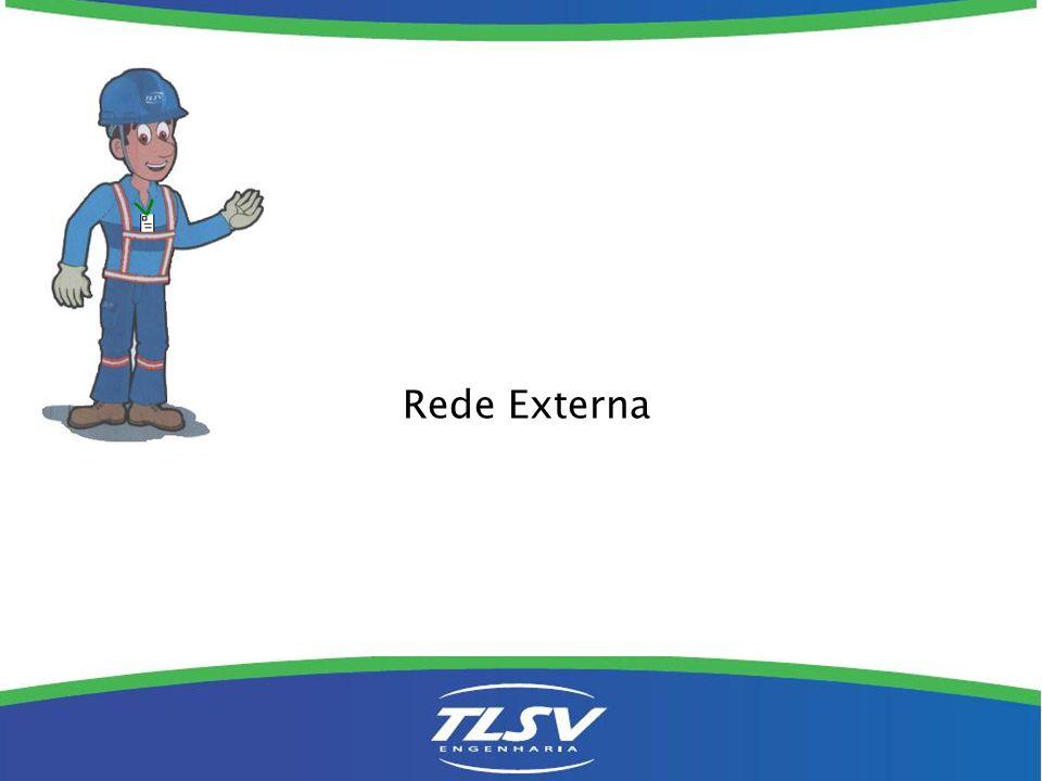A ocupação do poste, pelos cabos e isoladores, deve obedecer a seguinte ordem: Ponto de linha GVT Ponto de linha OI (BRT TV a Cabo Ponto de Rede GVT Ponto de Rede OI (BRT)