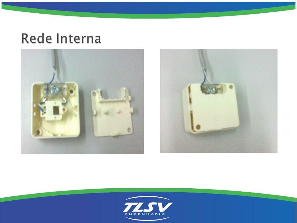 Rede Interna Quando não for possível levar o FE até o primeiro ponto, fazer a migração para o cabo Cci dentro de uma caixa sistema X em qualquer local da instalação interna.