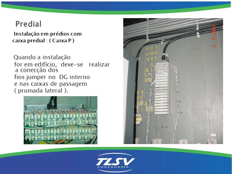 D.G.Prédio: Caixa C : Com cabo CCE, ( 4 pares ) ligar primeiro na caixa externa.