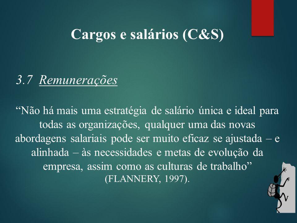 Cargos e salários (C&S) 3.7 Remunerações.Remuneração funcional foco no cargo, termo de (WOOD Jr.
