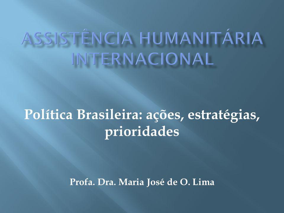 Contribuir para a compreensão da Política brasileira de Assistência Humanitária Internacional