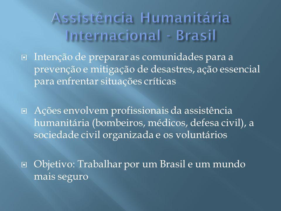 Solicitação de Ajuda Humanitária 1.Pedido do país junto ao Ministério das Relações Exteriores.