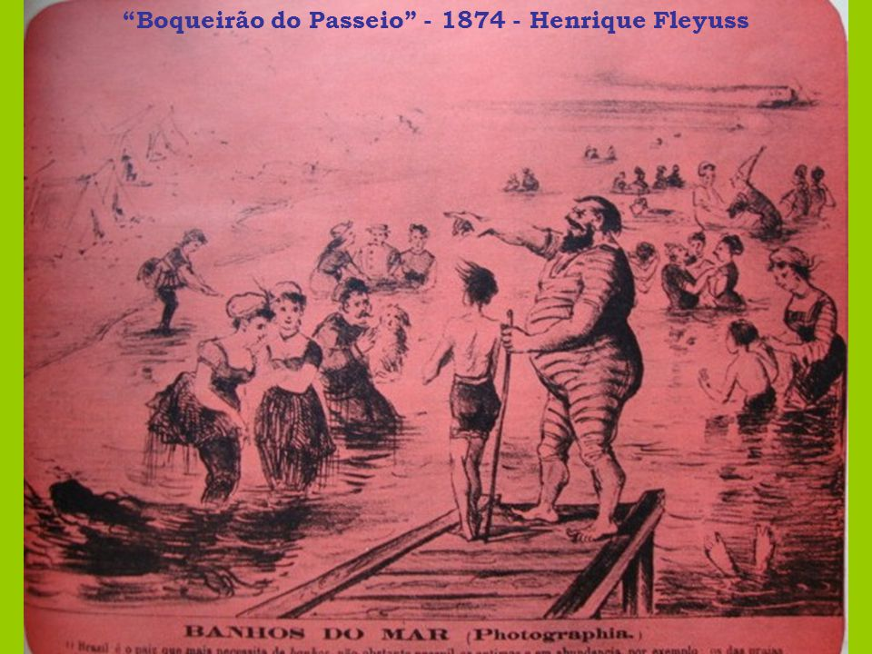 Físico dos Banhistas - 1885 - Ângelo Agostini