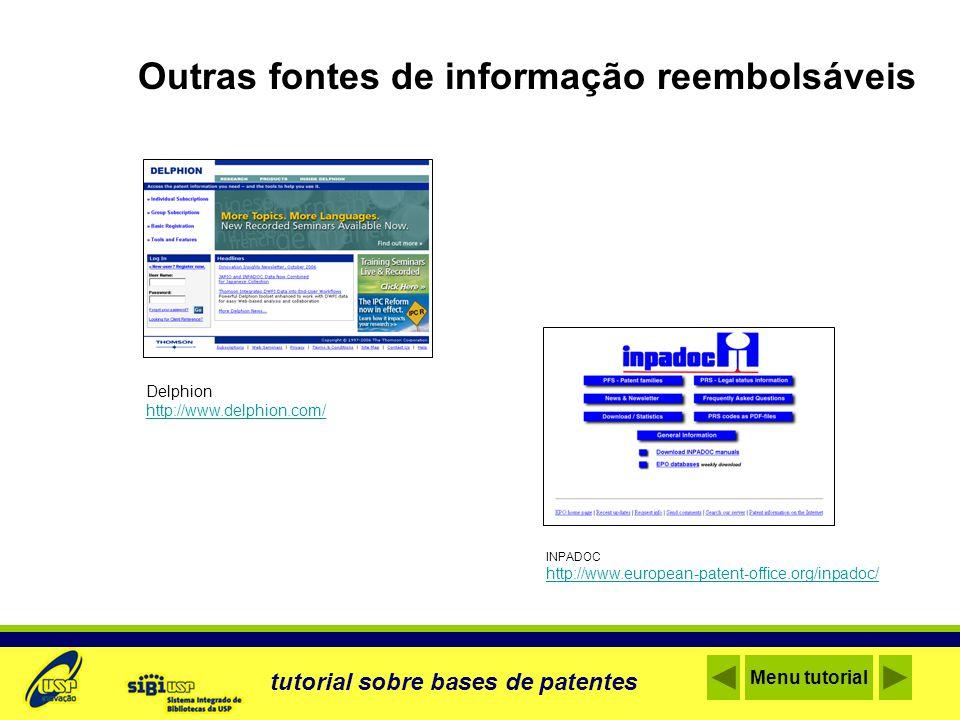 Glossário tutorial sobre bases de patentes ASSIGNEE Depositante – proprietário dos direitos patrimoniais da patente.