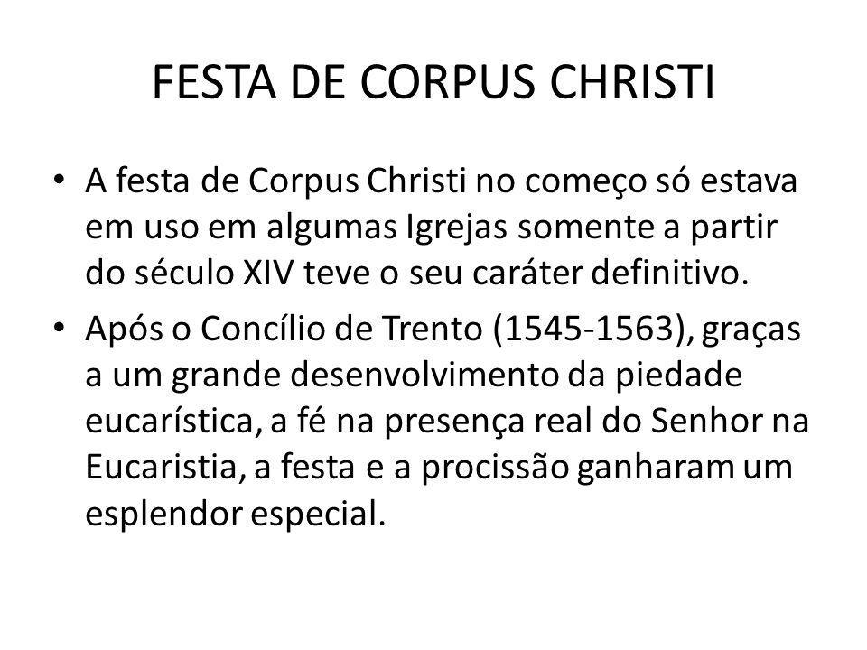 FESTA DE CORPUS CHRISTI No séc.XVII.