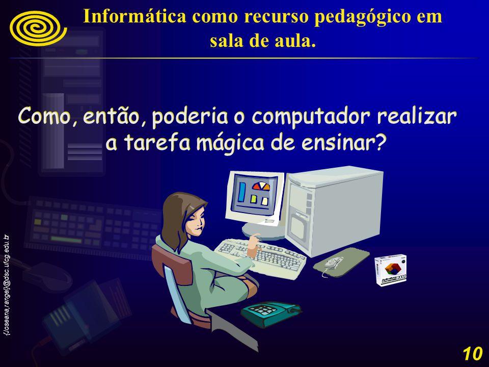 {Joseana,rangel}@dsc.ufcg.edu.br 11 Informática como recurso pedagógico em sala de aula.