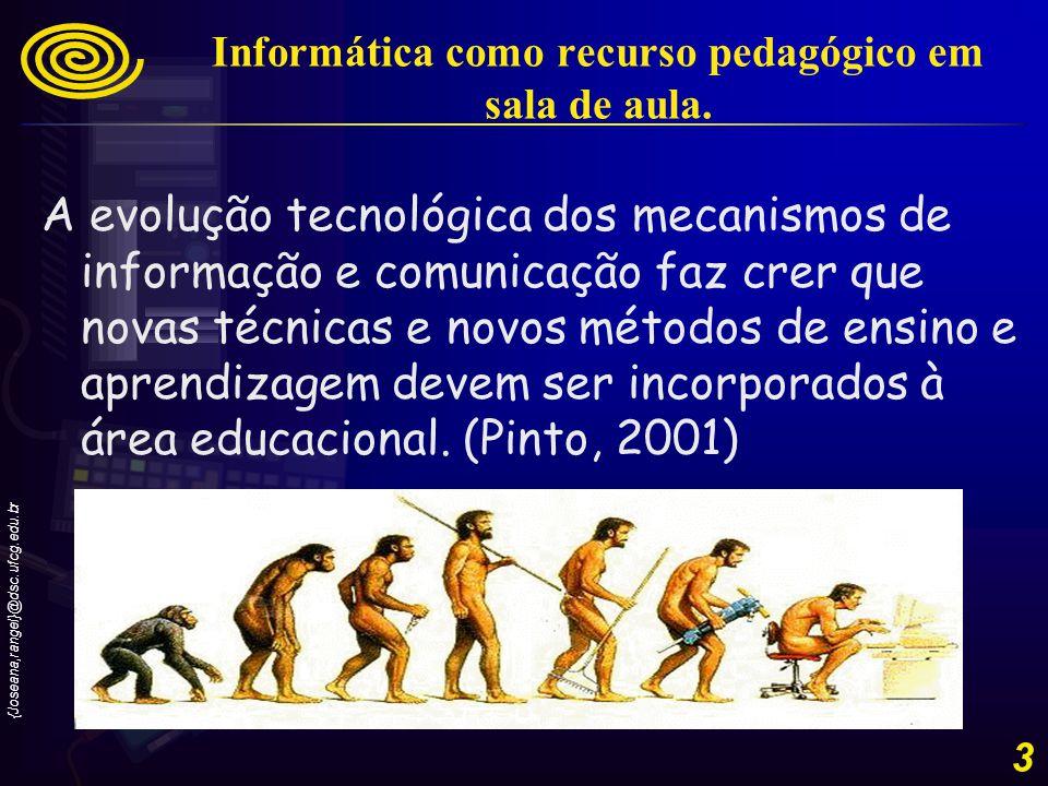 {Joseana,rangel}@dsc.ufcg.edu.br 4 Informática como recurso pedagógico em sala de aula.