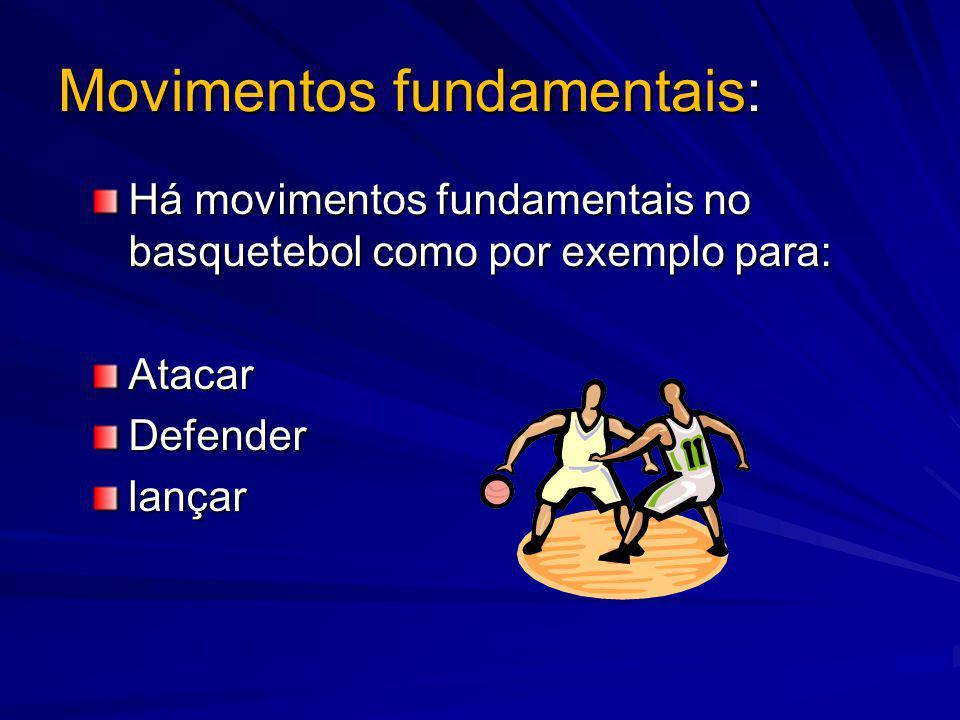 Os movimentos das mãos: Os movimentos das mãos: As mãos têm um papel muito importante no basquetebol para diferentes coisas tais como: Receber a bola LançarPassar