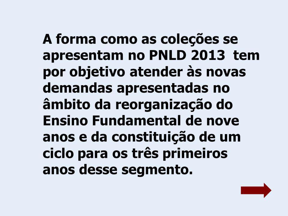 Assim, as coleções estão organizadas: letramento e alfabetização (1º ao 3º) e de língua portuguesa (4º ao 5º), de alfabetização matemática (1º ao 3º) e de matemática (4º ao 5º).
