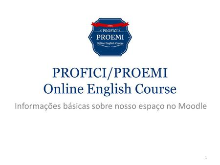 PROFICI/PROEMI Online English Course